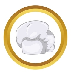 White chef hat icon vector
