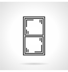 Window frame black line icon vector