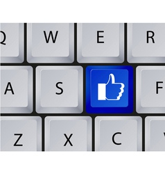 Keyboard like button vector