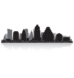 Austin usa city skyline silhouette vector
