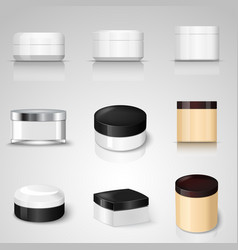 packaging containers templates set vector image
