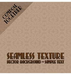 ornaments background brown with text vector image