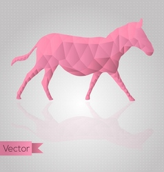 Abstract triangular horse vector