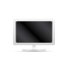 White computer monitor vector