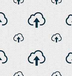 Upload from cloud icon sign seamless pattern with vector