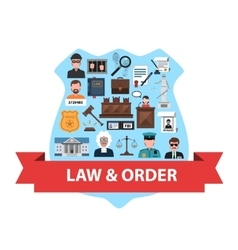 Law concept flat vector