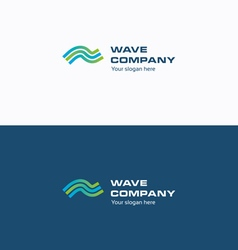 Wave company logo vector