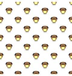 Seamless pattern with comic dogs on the white back vector