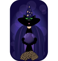 magician cat vector image