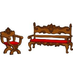Furniture renaissance vector