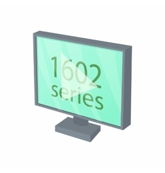View series on tv icon cartoon style vector