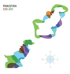 Abstract color map of Pakistan vector image vector image