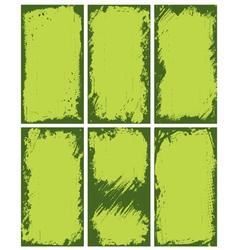 abstract green borders vector image