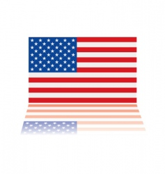 American flag reflection vector image vector image