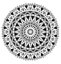 ancient gothic ornament mandala on white vector image vector image