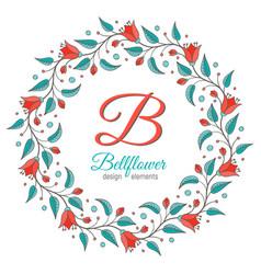 bellflower floral element wedding design vector image