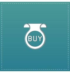 Bookmark with Buy message vector image