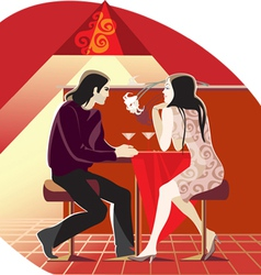 cafe conversation vector image