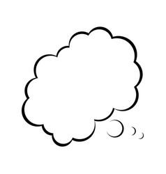 Cartoon bubble comic speech chat cloud think vector