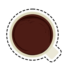 coffee mug icon over white vector image