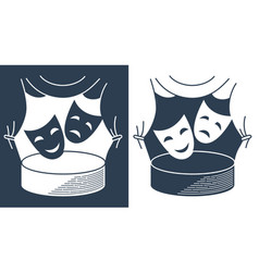 concept theater in the form of theatrical masks vector image