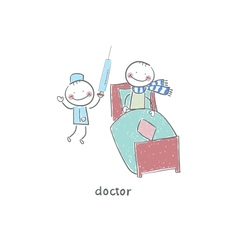 Doctor and patient vector image