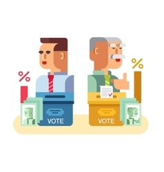 Elections candidates characters vector