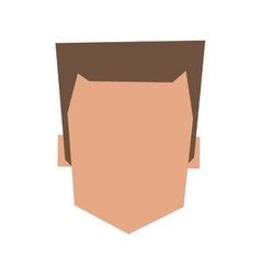 Faceless head of man icon vector