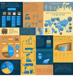 Fuel and energy industry infographic set elements vector