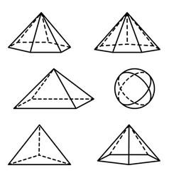 Geometric pyramidal forms vector