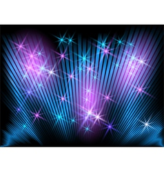 Glowing striped and stars vector image vector image