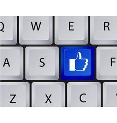 Keyboard like button vector