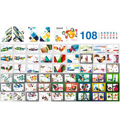 mega collection of business annual report brochure vector image vector image