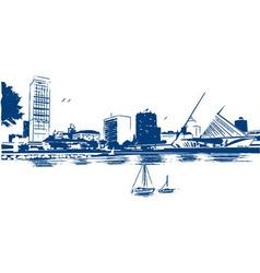 Milwaukee skyline vector