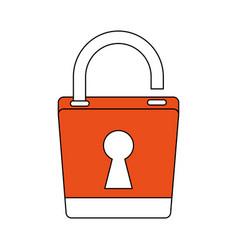 Padlock security symbol vector