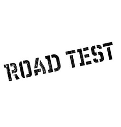road test rubber stamp vector image vector image
