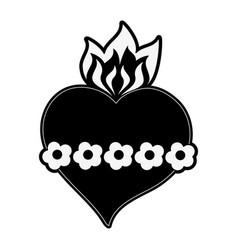 Sacred heart cartoon vector