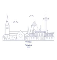 Tampere city skyline vector