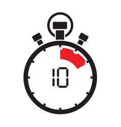 ten minute stop watch countdown vector image vector image