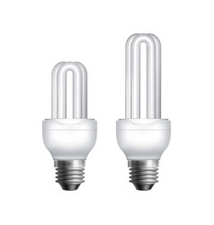 two fluorescent lamps vector image vector image