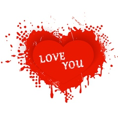 Valentines heart love you vector image vector image