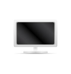 white computer monitor vector image