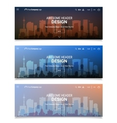 Blurred polygonal header slider webdesign kit with vector