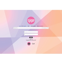 Website template flat design vector