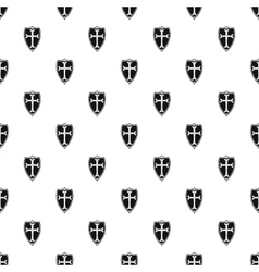 Protective shield pattern simple style vector