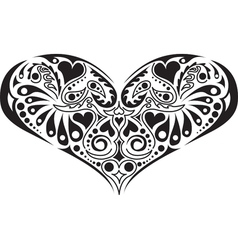 Victorian floral heart vector
