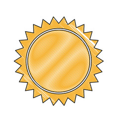 Yellow sun sunlight summer climate symbol vector