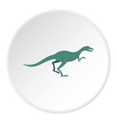 Velyciraptor dinosaur icon circle vector