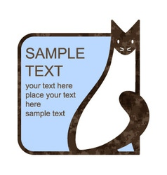 Cat emblem vector image