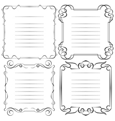 Set of frames menu vector